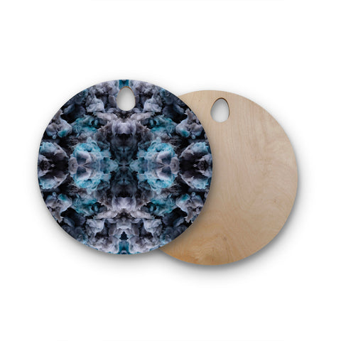 "Akwaflorell ""Abyss"" Blue Black Round Wooden Cutting Board"