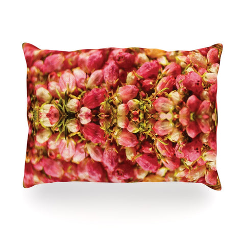 "Akwaflorell ""Close to You"" Red Orange Oblong Pillow - KESS InHouse"