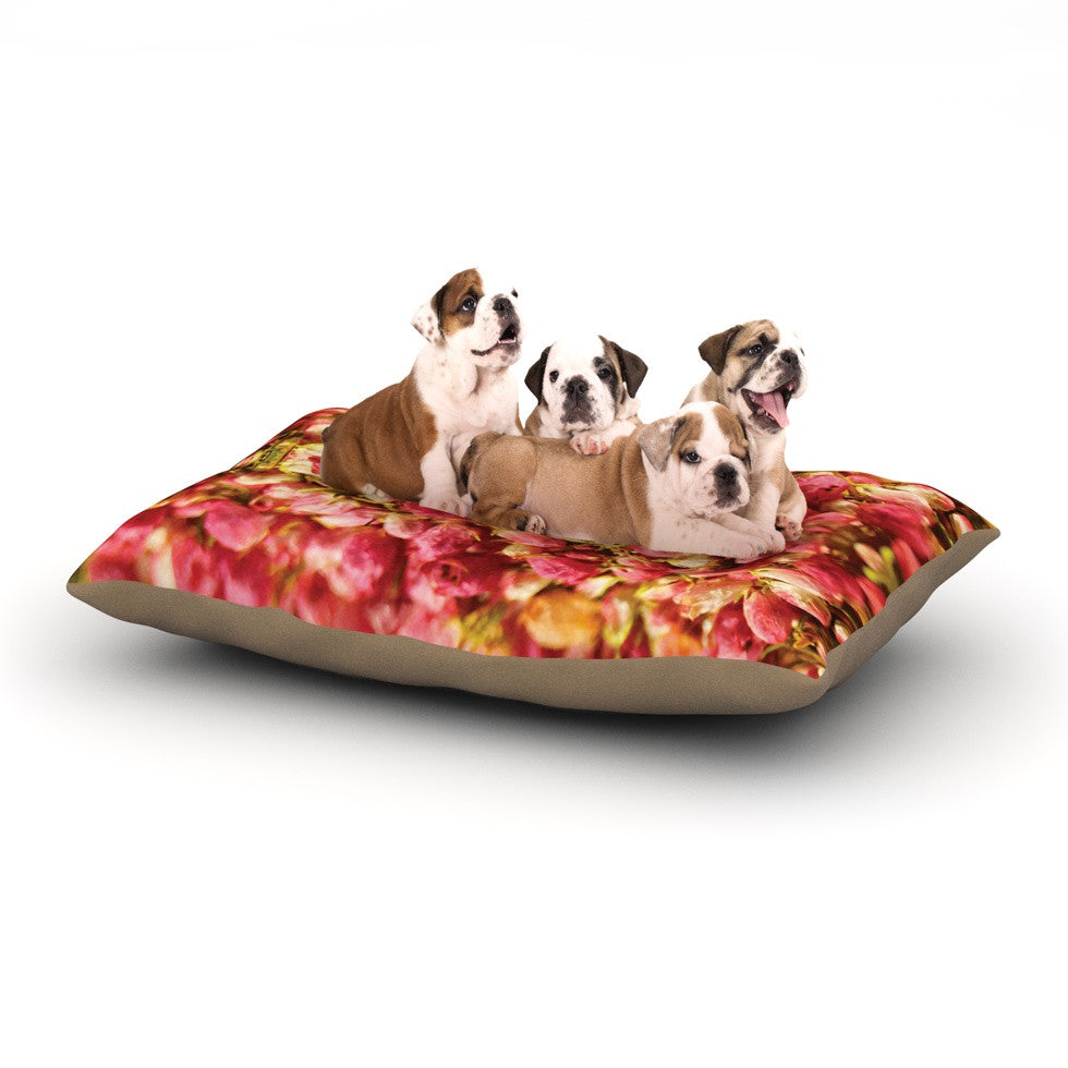 "Akwaflorell ""Close to You"" Red Orange Dog Bed - KESS InHouse  - 1"
