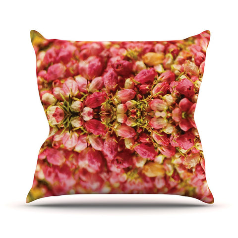 "Akwaflorell ""Close to You"" Red Orange Outdoor Throw Pillow - KESS InHouse  - 1"