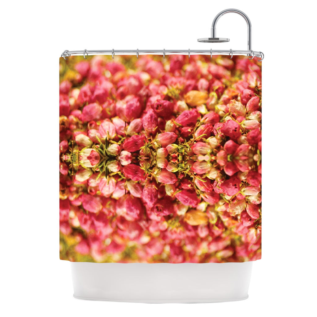"Akwaflorell ""Close to You"" Red Orange Shower Curtain - KESS InHouse"