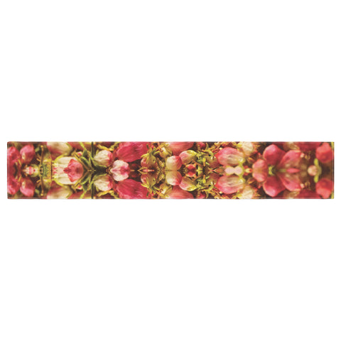 "Akwaflorell ""Close to You"" Red Orange Table Runner - KESS InHouse  - 1"