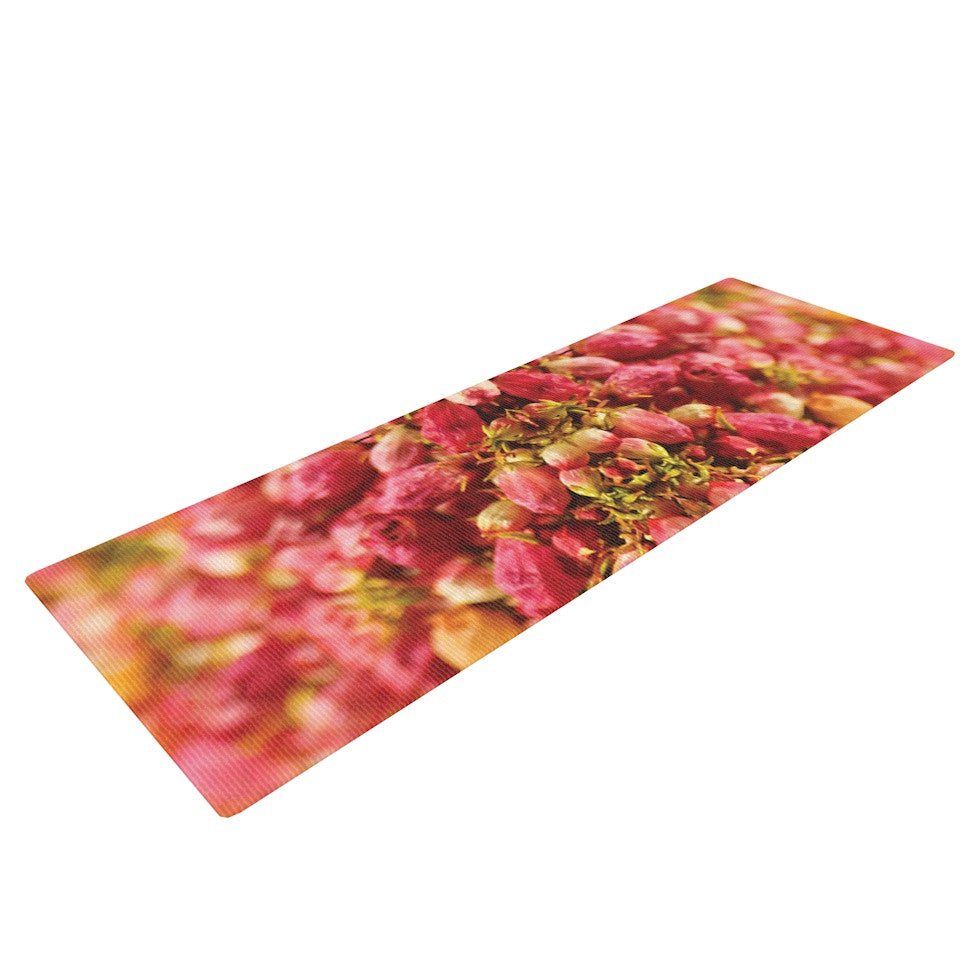 "Akwaflorell ""Close to You"" Red Orange Yoga Mat - KESS InHouse  - 1"