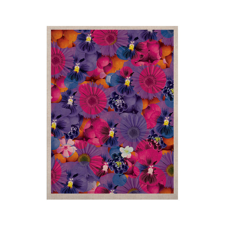 "Akwaflorell ""Find the Tiger"" Purple Pink KESS Naturals Canvas (Frame not Included) - KESS InHouse  - 1"