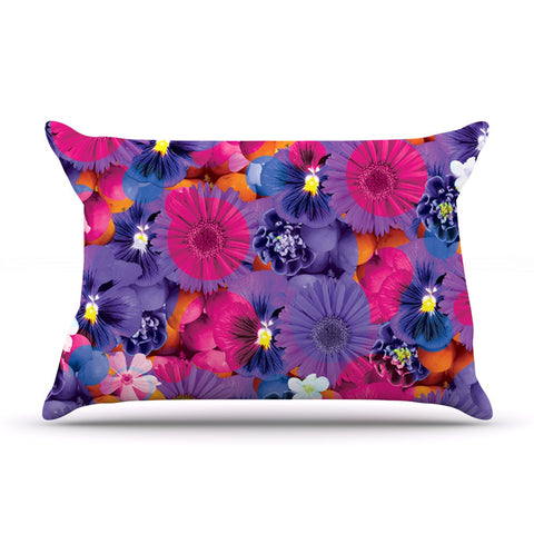 "Akwaflorell ""Find the Tiger"" Purple Pink Pillow Sham - KESS InHouse  - 1"