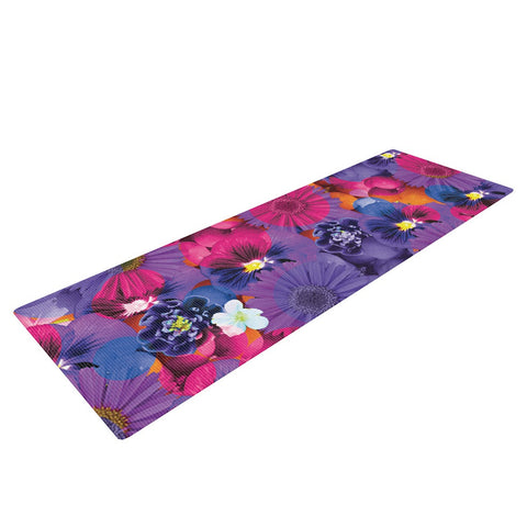 "Akwaflorell ""Find the Tiger"" Purple Pink Yoga Mat - KESS InHouse  - 1"