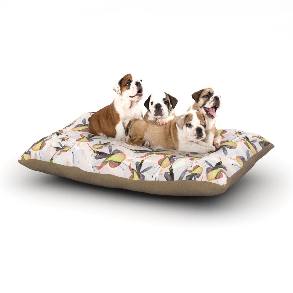 "Akwaflorell ""Fuchsia on the Wind"" Yellow Dog Bed - KESS InHouse  - 1"