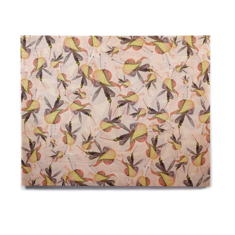 "Akwaflorell ""Fuchsia on the Wind"" Yellow Birchwood Wall Art - KESS InHouse  - 1"