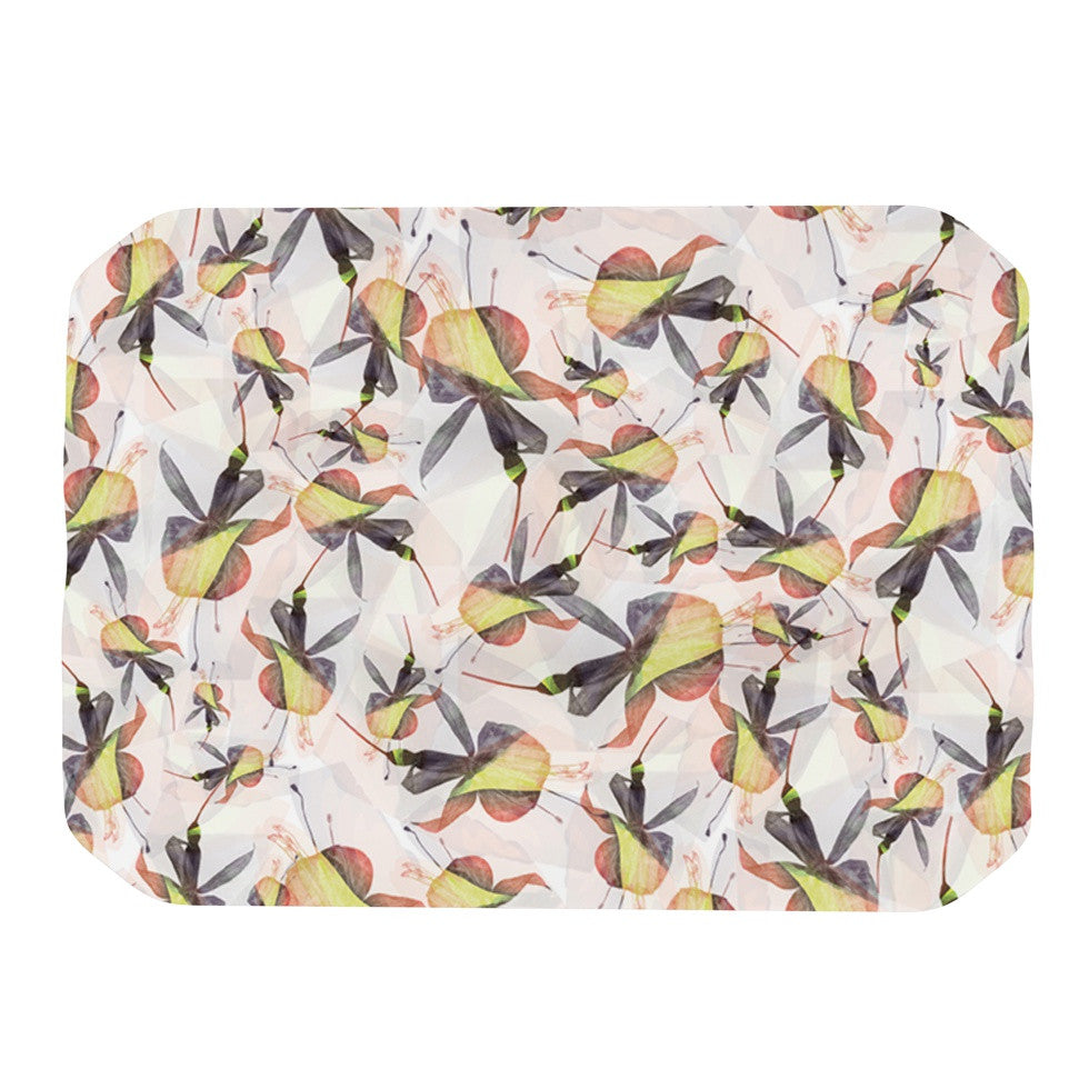 "Akwaflorell ""Fuchsia on the Wind"" Yellow Place Mat - KESS InHouse"