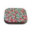 "Akwaflorell ""Flying Tulips"" Red Green Coasters (Set of 4)"