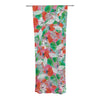 "Akwaflorell ""Flying Tulips"" Red Green Decorative Sheer Curtain - KESS InHouse"
