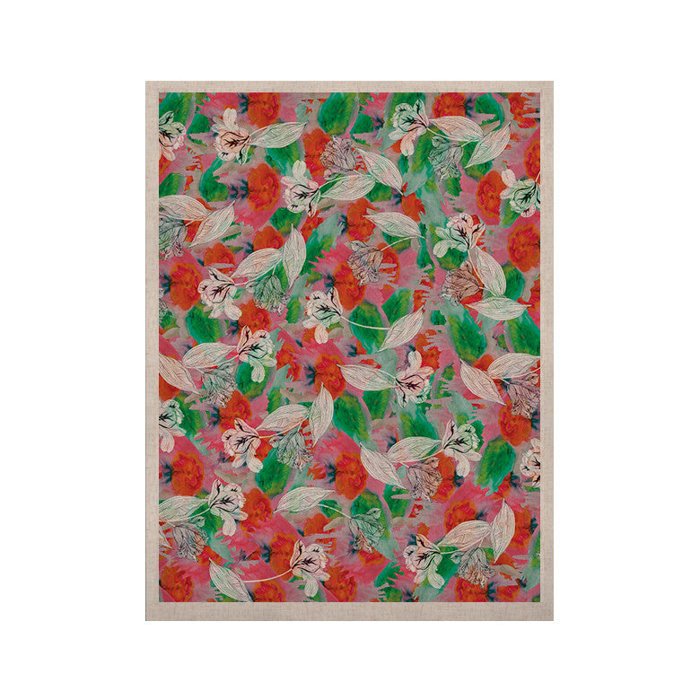 "Akwaflorell ""Flying Tulips"" Red Green KESS Naturals Canvas (Frame not Included) - KESS InHouse  - 1"