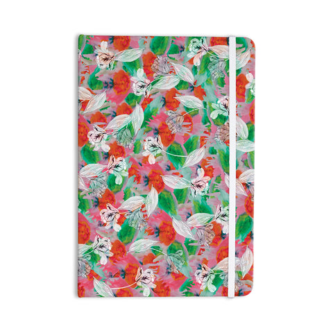 "Akwaflorell ""Flying Tulips"" Red Green Everything Notebook - KESS InHouse  - 1"