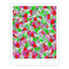 "Akwaflorell ""Flying Tulips"" Red Green Fine Art Gallery Print - KESS InHouse"