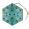 "Akwaflorell ""Blues in Blue""  Hexagon Holiday Ornament"