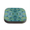 "Akwaflorell ""Blues in Blue"" Coasters (Set of 4)"