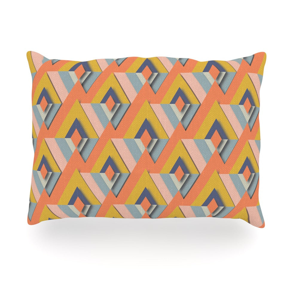 "Akwaflorell ""So Cool"" Orange Yellow Oblong Pillow - KESS InHouse"