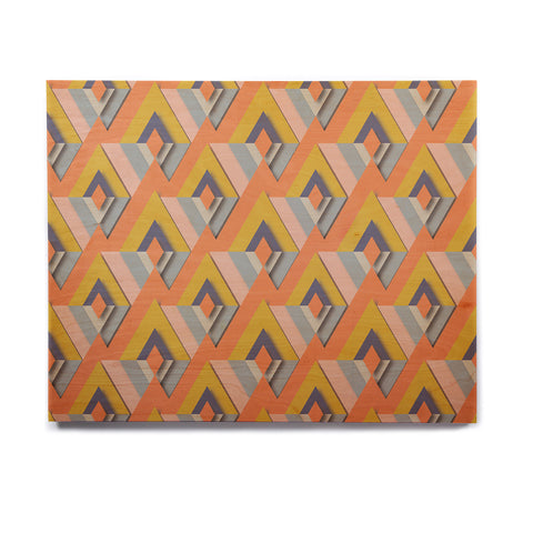 "Akwaflorell ""So Cool"" Orange Yellow Birchwood Wall Art - KESS InHouse  - 1"
