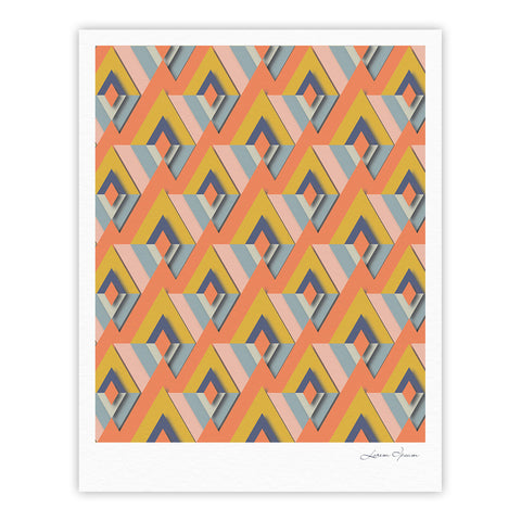 "Akwaflorell ""So Cool"" Orange Yellow Fine Art Gallery Print - KESS InHouse"