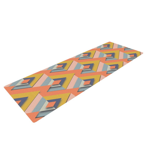 "Akwaflorell ""So Cool"" Orange Yellow Yoga Mat - KESS InHouse  - 1"