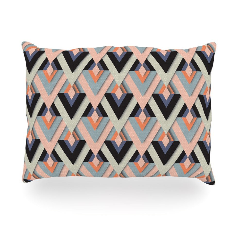 "Akwaflorell ""Sweet & Sharp"" Pink Green Oblong Pillow - KESS InHouse"
