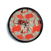 "Akwaflorell ""It's Pumpkin Time"" Red Teal Modern Wall Clock"