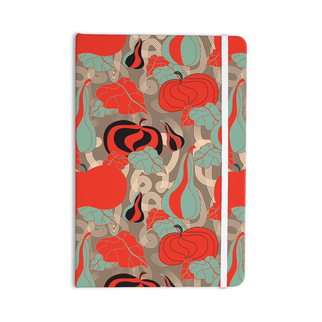 "Akwaflorell ""It's Pumpkin Time"" Red Teal Everything Notebook - KESS InHouse  - 1"