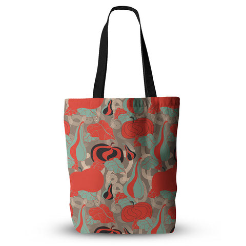 "Akwaflorell ""It's Pumpkin Time"" Red Teal Everything Tote Bag - KESS InHouse  - 1"