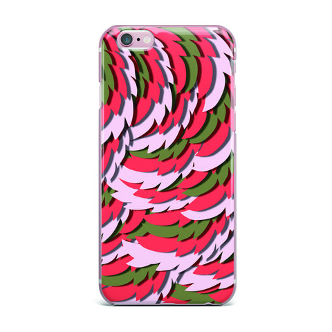 "Akwaflorell ""Wings"" Green Red iPhone Case - KESS InHouse"