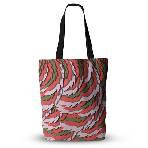 "Akwaflorell ""Wings"" Green Red Everything Tote Bag - KESS InHouse  - 1"