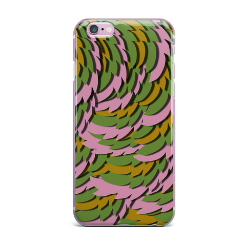 "Akwaflorell ""Wings II"" Pink Green iPhone Case - KESS InHouse"