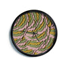 "Akwaflorell ""Wings II"" Pink Green Modern Wall Clock"