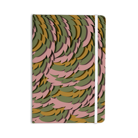 "Akwaflorell ""Wings II"" Pink Green Everything Notebook - KESS InHouse  - 1"