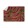 "Akwaflorell ""Wings III"" Red Brown Sherpa Blanket - KESS InHouse  - 1"