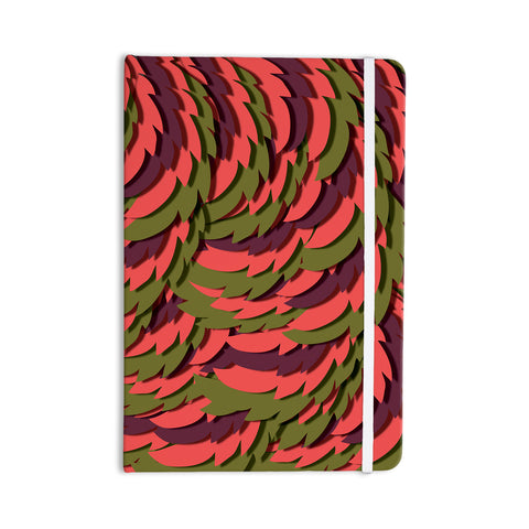 "Akwaflorell ""Wings III"" Red Brown Everything Notebook - KESS InHouse  - 1"