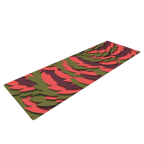 "Akwaflorell ""Wings III"" Red Brown Yoga Mat - KESS InHouse  - 1"