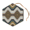 "Akwaflorell ""Papercuts"" Brown Geometric Hexagon Holiday Ornament"