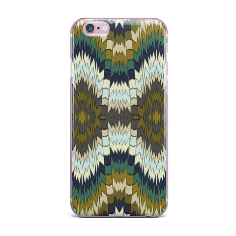 "Akwaflorell ""Papercuts"" Brown Geometric iPhone Case - KESS InHouse"