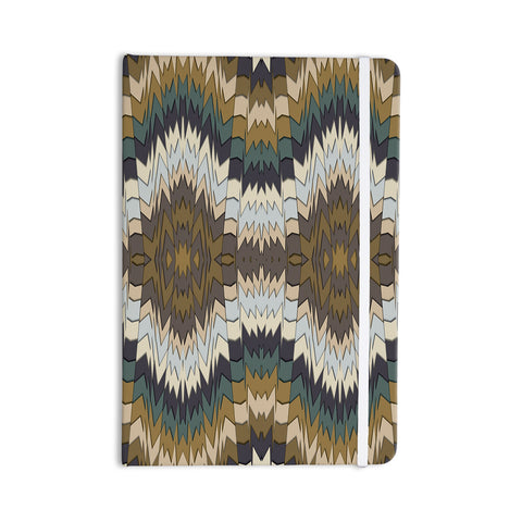 "Akwaflorell ""Papercuts"" Brown Geometric Everything Notebook - KESS InHouse  - 1"