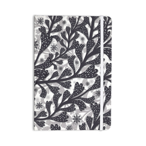 "Akwaflorell ""Snow Houses"" Gray Abstract Everything Notebook - KESS InHouse  - 1"