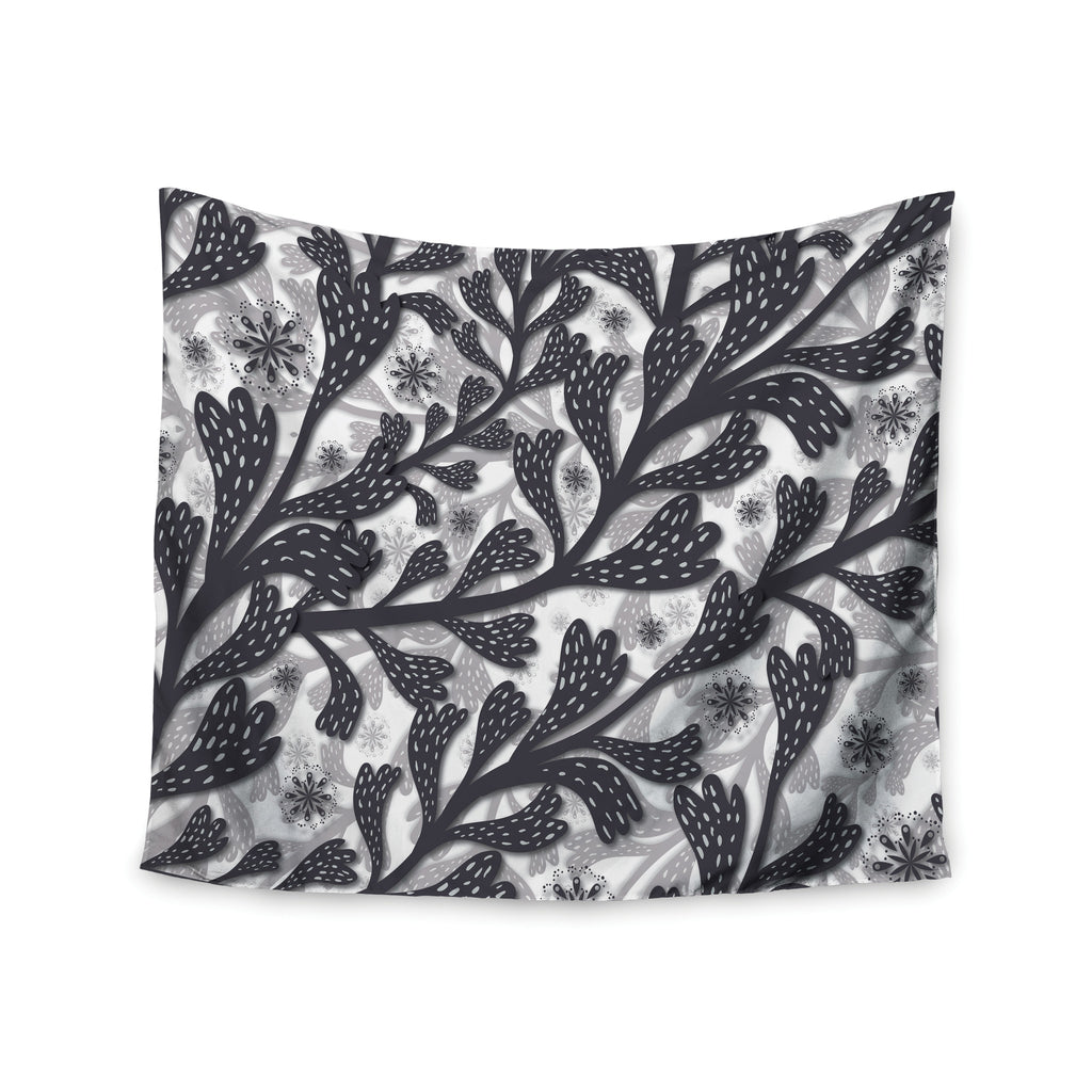 "Akwaflorell ""Snow Houses"" Gray Abstract Wall Tapestry - KESS InHouse  - 1"