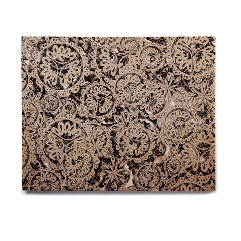 "Akwaflorell ""Snowflakes"" Brown Geometric Birchwood Wall Art - KESS InHouse  - 1"