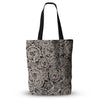 "Akwaflorell ""Snowflakes"" Brown Geometric Everything Tote Bag - KESS InHouse  - 1"
