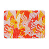 "Akwaflorell ""Fishes Here, Fishes There"" Orange Red Memory Foam Bath Mat - KESS InHouse"