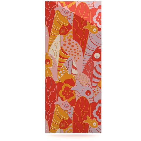 "Akwaflorell ""Fishes Here, Fishes There"" Orange Red Luxe Rectangle Panel - KESS InHouse  - 1"