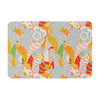 "Akwaflorell ""Fishes Here, Fishes There II"" Multicolor Memory Foam Bath Mat - KESS InHouse"