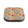 "Akwaflorell ""Fishes Here, Fishes There II"" Multicolor Coasters (Set of 4)"