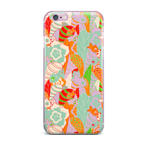 "Akwaflorell ""Fishes Here, Fishes There 2"" Multicolor iPhone Case - KESS InHouse"