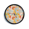 "Akwaflorell ""Fishes Here, Fishes There II"" Multicolor Modern Wall Clock"
