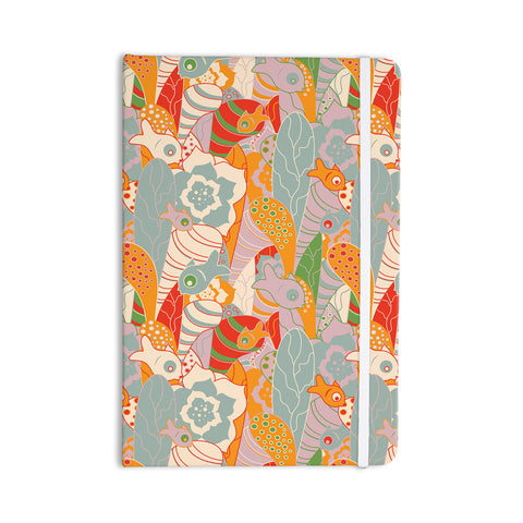 "Akwaflorell ""Fishes Here, Fishes There 2"" Multicolor Everything Notebook - KESS InHouse  - 1"